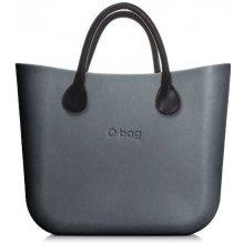 O bag kabelka MINI Grafite s černými krátkými koženkovými držadly 88a6cb0d8cb
