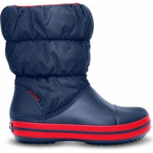 Crocs Winter Puff Boot Kids Navy Red 86836d8984