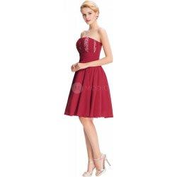 61132158ae7 Grace Karin koktejlové šaty Bordo CL3422 Červená alternativy ...