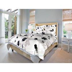 Smolka bavlna povlečení Tapeta černobílá 140x200 70x90