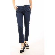 Guess dámské tmavě modré kalhoty s kamínky b856a1572d