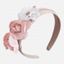 Mayoral dívčí čelenka s květinami - růžová