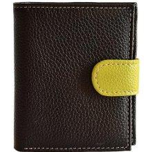 Hellix dámská kožená peněženka P 1255 black multicolor černá