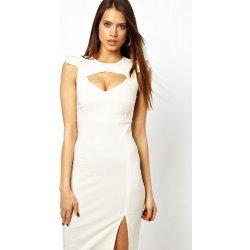 f0b1b9d2c16f Dámské společenské šaty Stella s vysokým rozparkem bílá