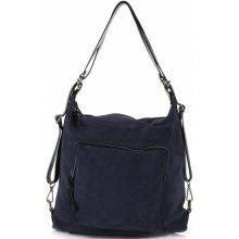 Vittoria Gotti kabelka batůžek přírodní kůže tmavě modrá f427c208ef