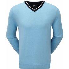 FootJoy svetr Wool Blend V-Neck modrý