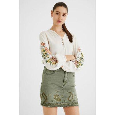 Desigual krátké sukně BILLI JEANS khaki