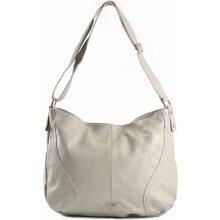 ec55b614f9 Bright klasická dámská kabelka  vak měkká velká A4 šedá