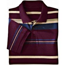 Blancheporte Proužkované polo tričko s krátkými rukávy švestková