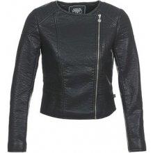 Le Temps des Cerises kožená bunda BUBBLE černá
