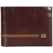 GIUDI pánská tmavě hnědá kožená peněženka 7004