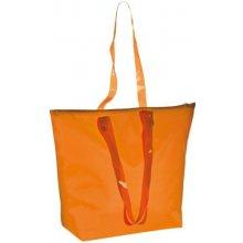 plážová taška s průhlednými uchy oranžová