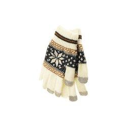 Aligator Touch Gloves Nordic pletené rukavice s motivem pro kapacitní dotykový  displej bílá (white) 7a44173957