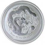 Lunární Stříbrná investiční mince Year of the Dragon Rok Draka 5 Oz 2012