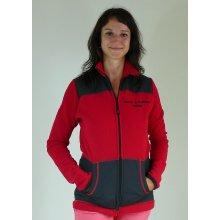 Výcviková fleece mikina s výšivkou dámská červená bfd790b5f1