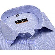 68fb002235a Eterna Slim Fit košile se světle modrým proužkem a bílým vzorem extra  prodloužený rukáv