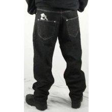 Metalové kalhoty pánské dlouhé s potiskem granátu