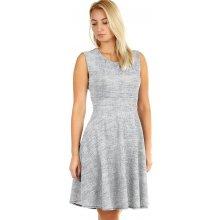 2a7701567dc3 Společenské dámské šaty áčkového střihu 393862 světle šedá