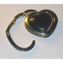 Háček na kabelku - tm. modré srdce