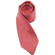 Hedvábná pletená kravata růžová