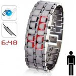 Iron Samurai lava silver/red Shim Watch BHIS21R