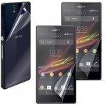 Ochranná folie MUVIT pro přední a zadní stranu Sony Xperia Z, 2ks přední (matná + lesklá) + 1ks záda