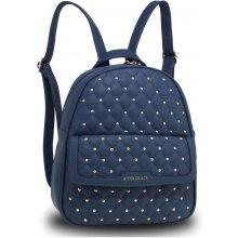 Anna Grace luxusní batoh se značkou na přední straně modrý a21a2c048c