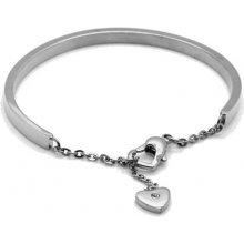 Troli ocelový náramek se srdcem KBS-151-SIL