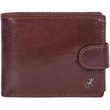Cosset Pánská peněženka kožená 4487 komodo hnědá zip na bankovky 40496c03f8