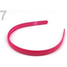 Plastová čelenka 1,2 cm růžová malinová 12ks