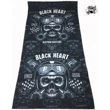 Nákrčník Black Heart Piston Skull černá