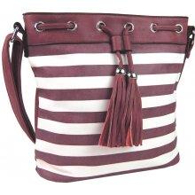 pruhovaná crossbody kabelka H0468 Červeno-bílá