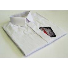 Chlapecká košile dlruk bílá s proužkem