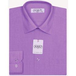 AMJ Classic pánská košile dlouhý rukáv světle fialová alternativy ... 4c5be1edb4