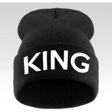 Čepice s nápisem King černá