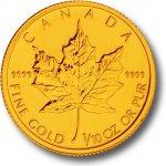 Maple Leaf Zlatá mince 1 10oz