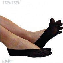 ToeToe PLAIN Nylon prstové silon balerinky černá