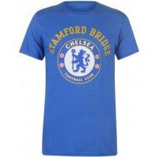 Source Lab Chelsea Crest T Shirt Mens Blue