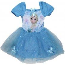 E plus M Dívčí šaty Frozen modrá