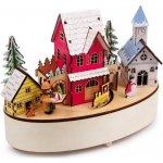 Small foot by Legler Vánoční dekorace - Hrací hodiny a lampa Zimní čas