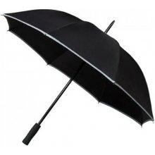 Dámský holový deštník SAFETY reflex černý