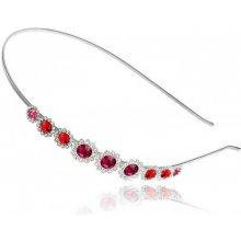 Whiterose Čelenka s rudými a fialovými krystaly BZD00008 c1bc76ec4c