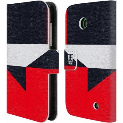 Pouzdro HEAD CASE Nokia LUMIA 630/630 DUAL barevné tvary černá a červená gejša