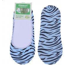 Bambusové ponožky do balerín tygrované - modrá