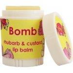 Bomb Cosmetics Rebarborový puding Rhubarb & Custard Balzám na rty 4,5 g