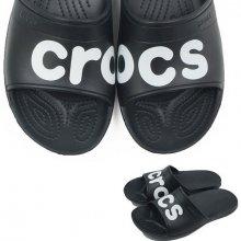 Crocs CLASSIC GRAPHIC SLIDE BLACK