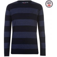 Lee Cooper C Strp Crew Knit Sn81 Navy/Blue M