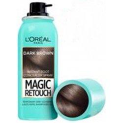 L´Oréal Vlasový korektor šedin a odrostů Magic Retouch (Instant Root Concealer Spray) 02 Dark Brown 75 ml
