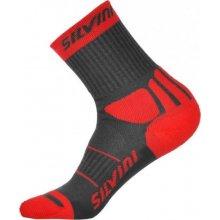 Silvini ponožky Vallonga UA522 grey-red d4fd5e4029