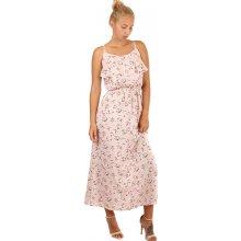 Letní maxi šaty s květinovým vzorem 242487 růžová a16865d17c